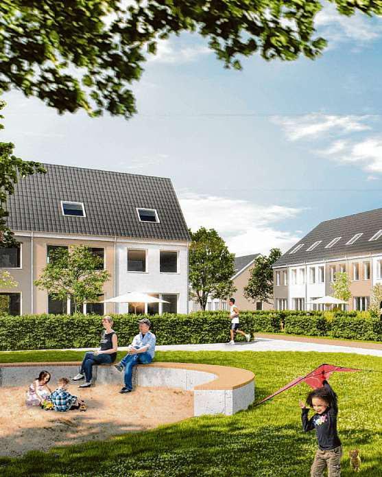 """Projekt """"Mein Falkenberg"""": Die Deutsche Eigenheim baut 507 Reihenhäuser."""
