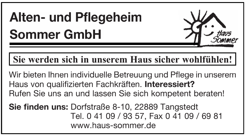 Alten- und Pflegeheim Sommer GmbH