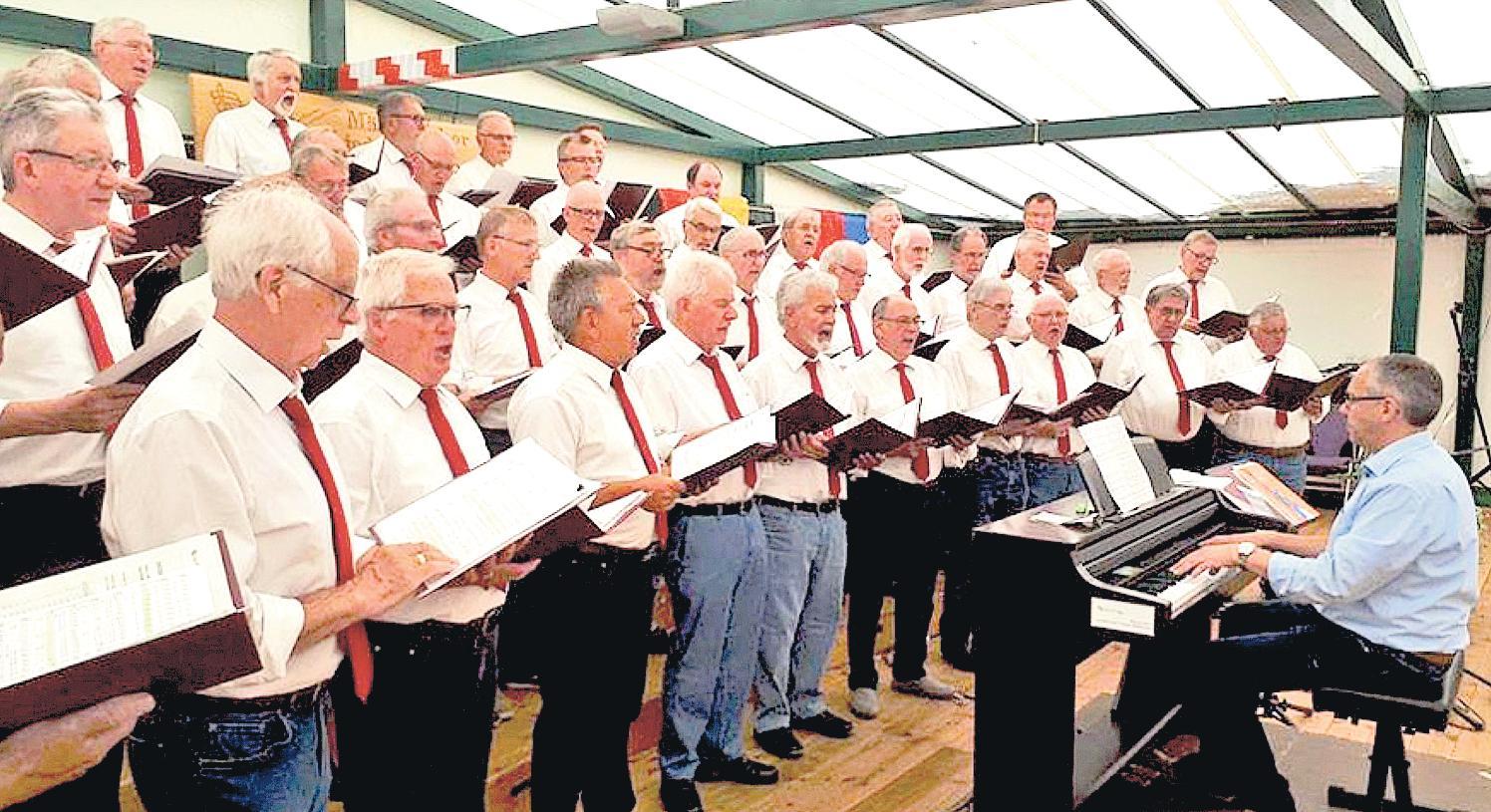 Der Chor verfügt über ein abwechslungsreiches Repertoire.