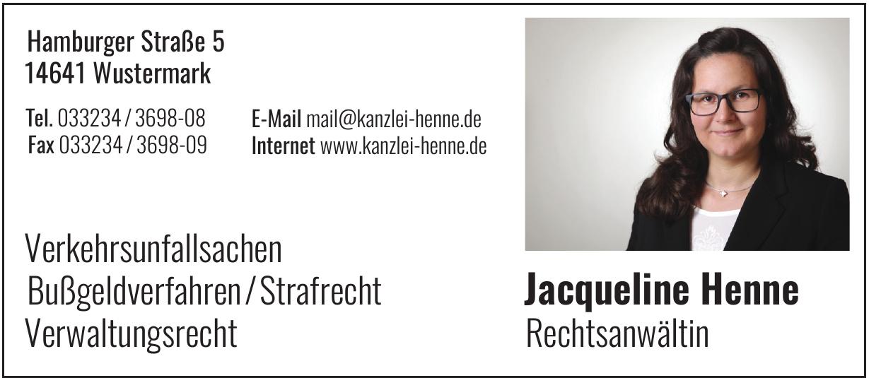 Jacqueline Henne Rechtsanwältin