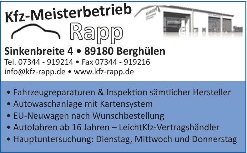 Kfz-Meisterbetrieb Rapp