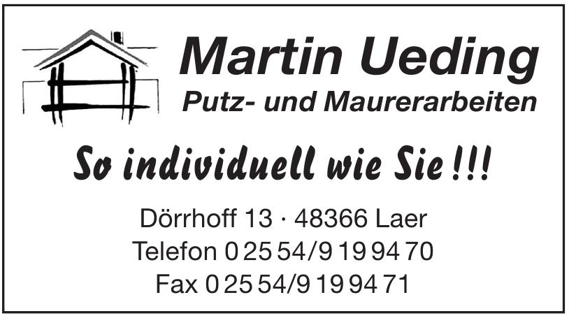 Martin Ueding Putz- und Maurerarbeiten
