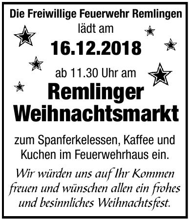 Remlinger Weihnachtsmarkt