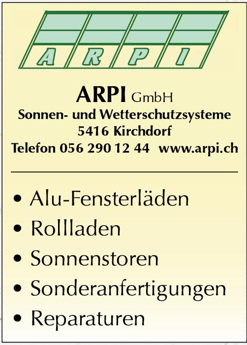 ARPI GmbH Sonnen- und Wetterschutzsysteme