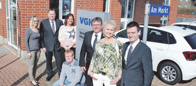 Das VGH-Team-Ilsede (v. li.): Melanie Bertram, Kai Pfitzner, Christiane Burgdorf, Sven Herder, Andreas Pfitzner, Anja Heinemann und Thomas Pfitzner.     Foto: Birthe Kußroll-Ihle