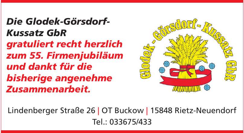 Die Glodek-Görsdorf-Kussatz GbR