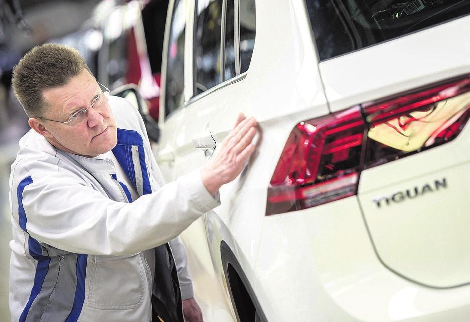 An zwei Freitagen im Februar ruht die Produktion unter anderem vom Tiguan. Foto: VW