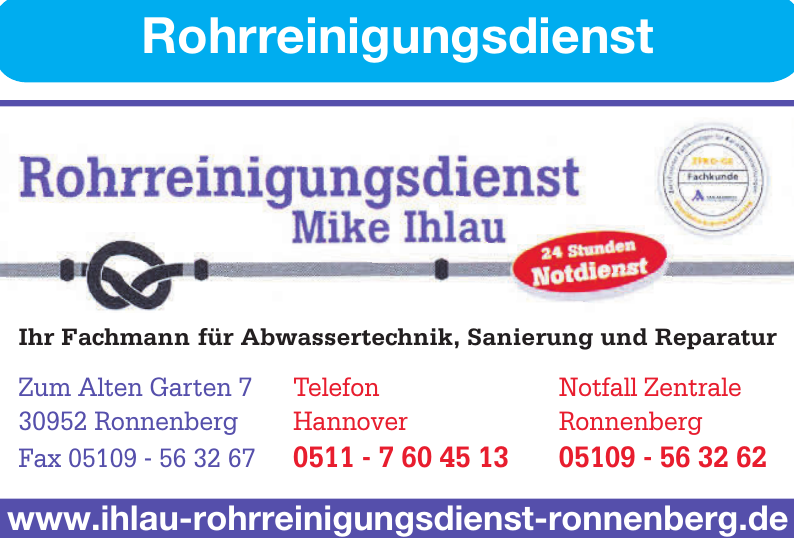 Rohrreinigungsdienst Mike Ihlau