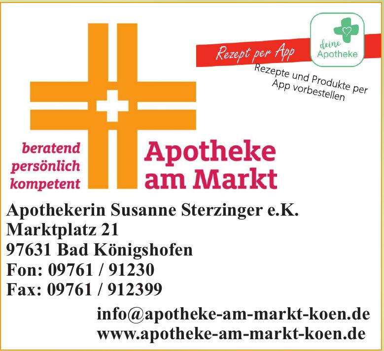 Apotheke am Markt - Apothekerin Susane Sterzinger e.K.