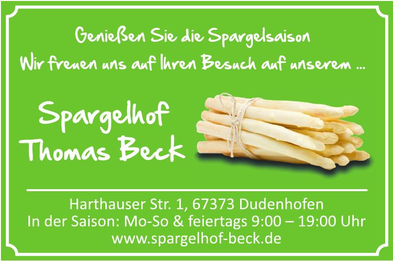 Spargelhof Thomas Beck