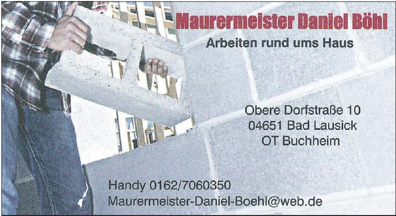 Maurermeister Daniel Böhl