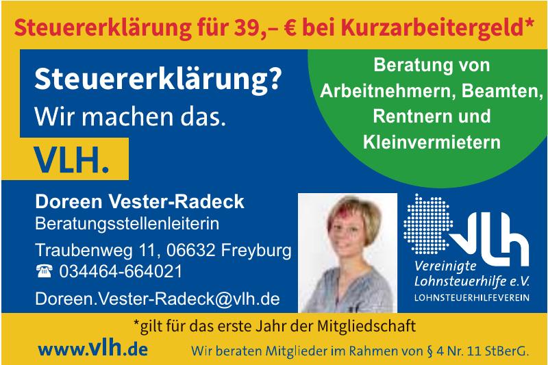 VLH Vereinigte Lohnsteuerhilfe e.V. - Doreen Vester-Radeck