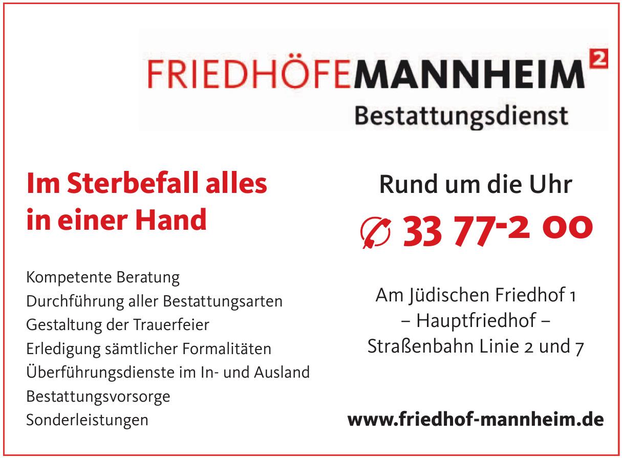 Friedhöfe Mannheim