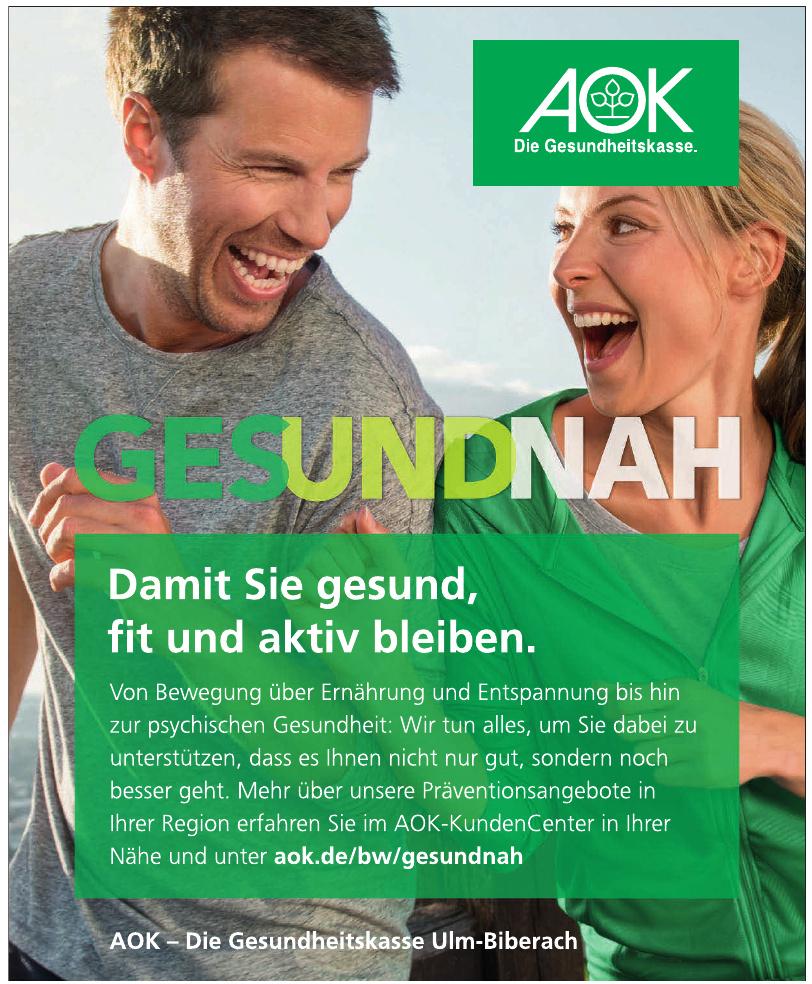 AOK- Die Gesundheitskasse Ulm-Biberach