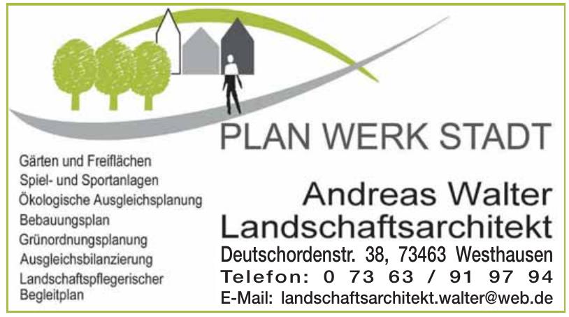 Plan Werk Stadt  Andreas Walter