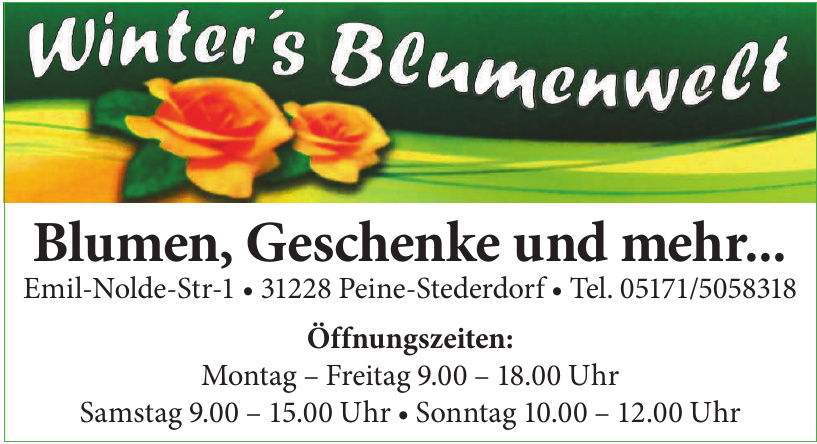 Winter's Blumenwelt