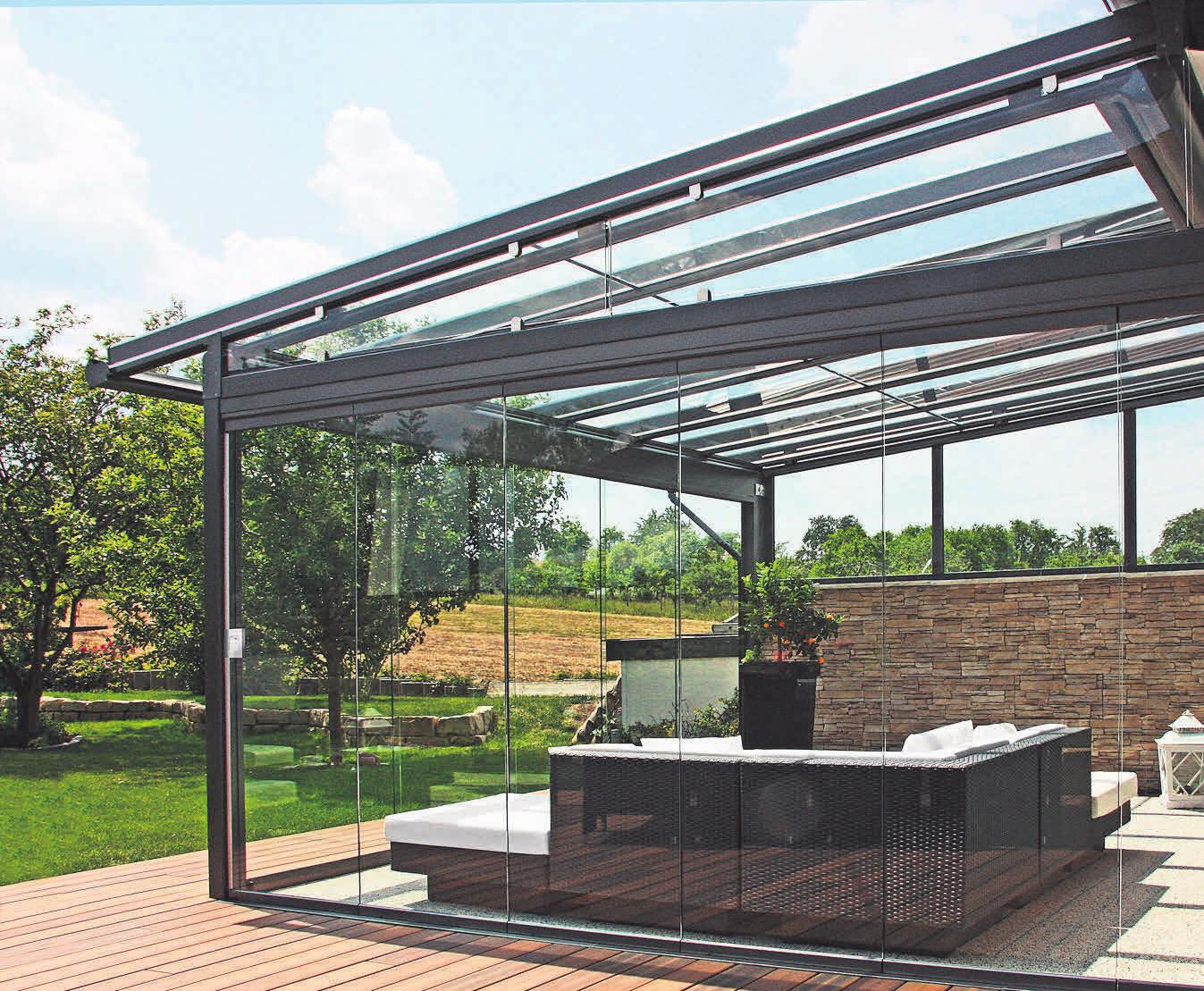 Mit den Terrassendächern von Othmer lässt sich die Natur beinahe unbegrenzt genießen.