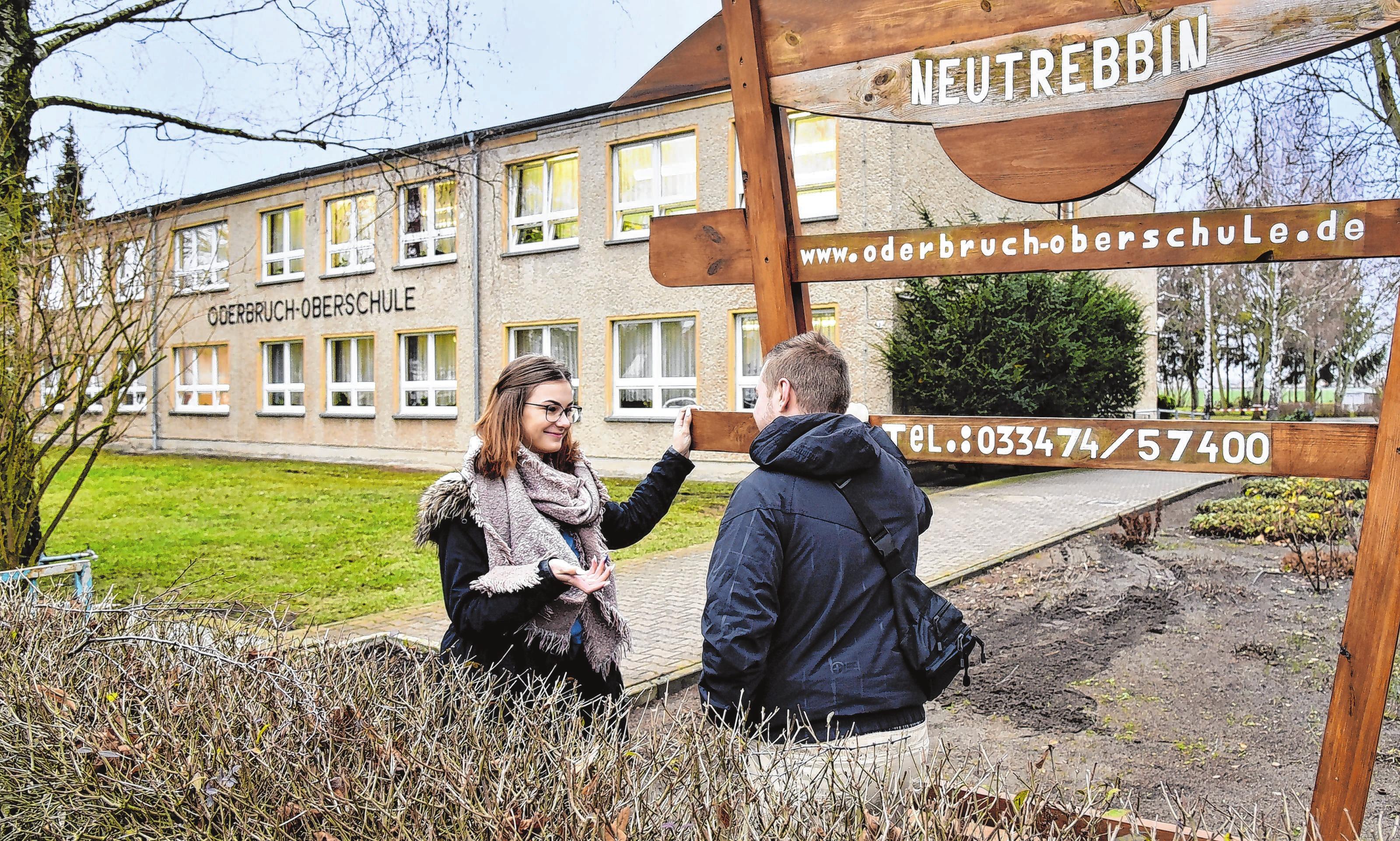 Kämpft für ihre Schule: Magdalena Behrend geht in die 10. Klasse und ist Schülersprecherin an der Oderbruch-Oberschule in Neutrebbin.