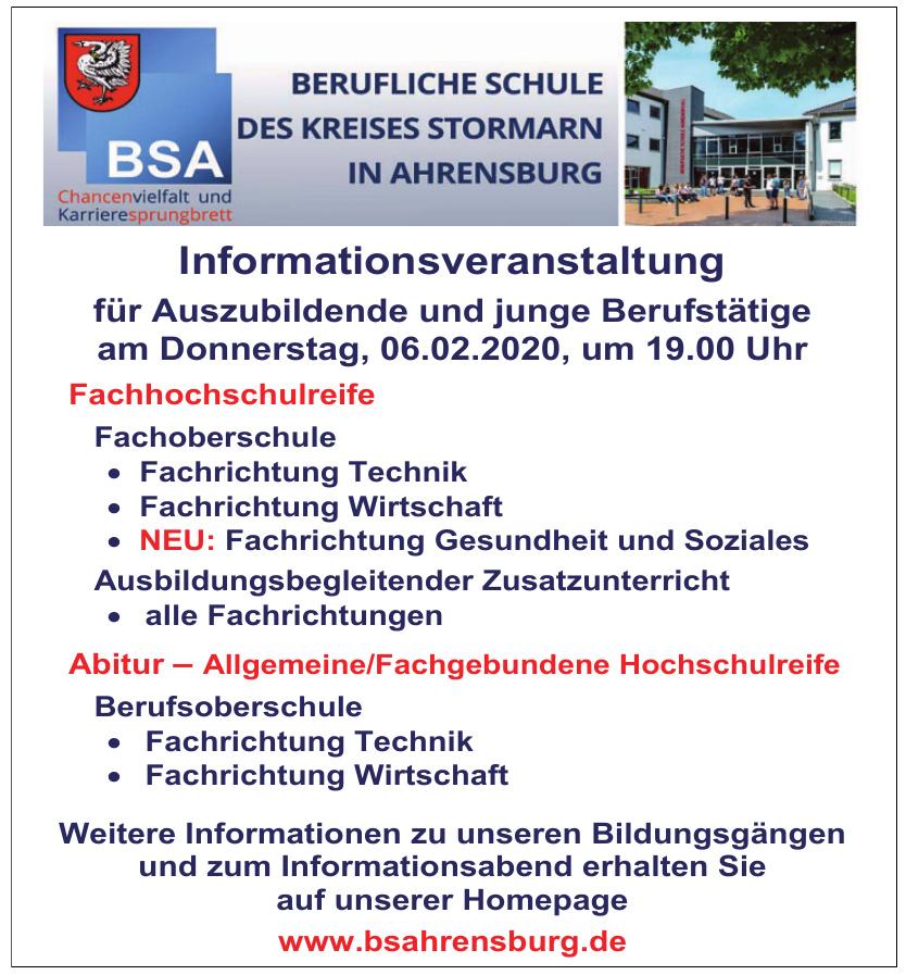 Berufliche Schule des Kreises Stormarn in Ahrensburg