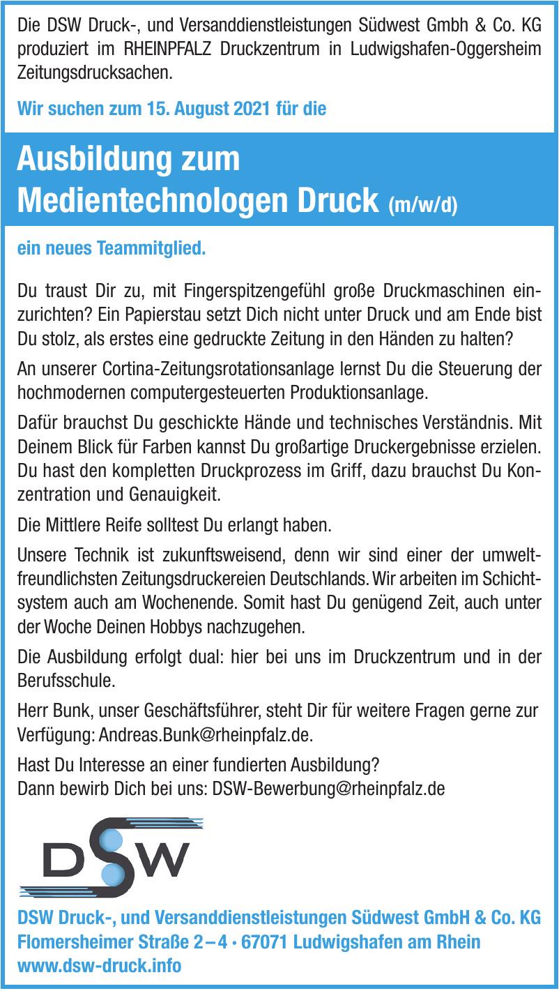 DSW Druck-, und Versanddienstleistungen Südwest GmbH & Co. KG