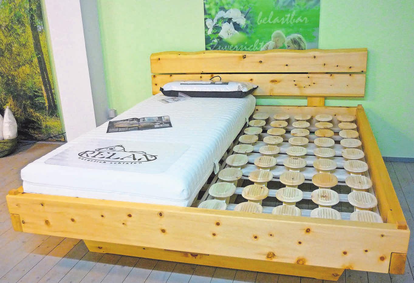 Im Osterwalder Möbelhaus können Sie sich über die hohe Wirksamkeit des Relax-Schlafsystems informieren.