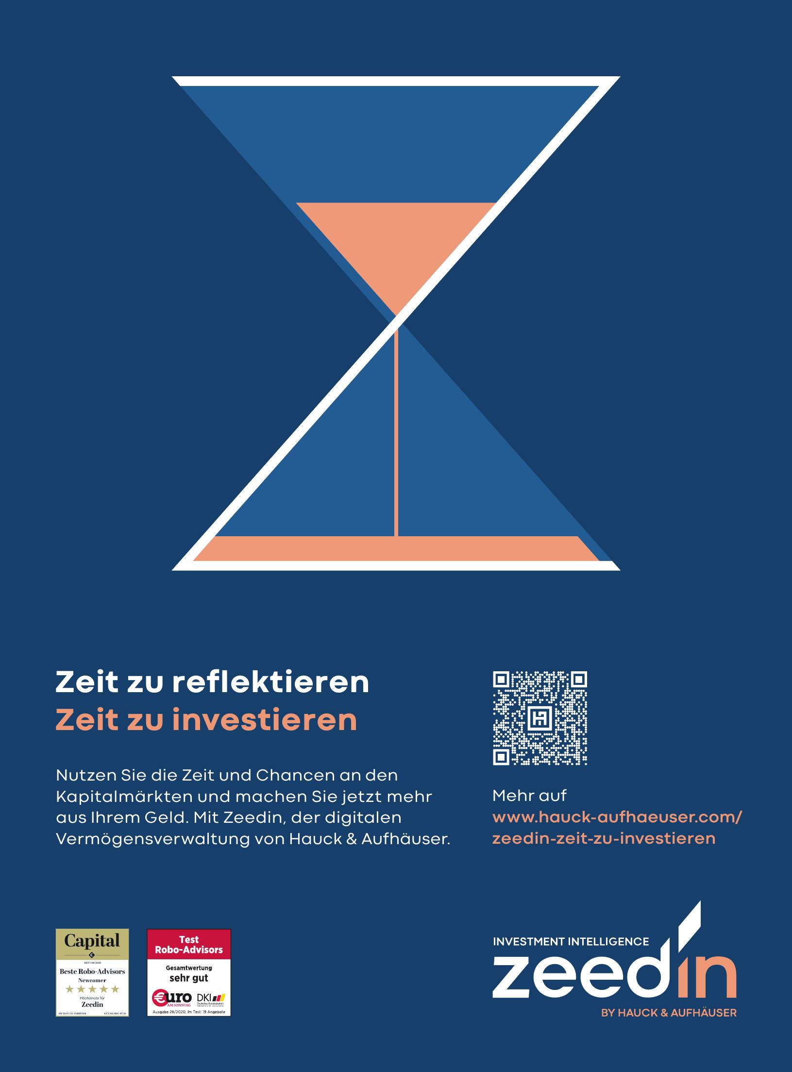 Zeedin - digitale Vermögensverwaltung von Hauck & Aufhäuser
