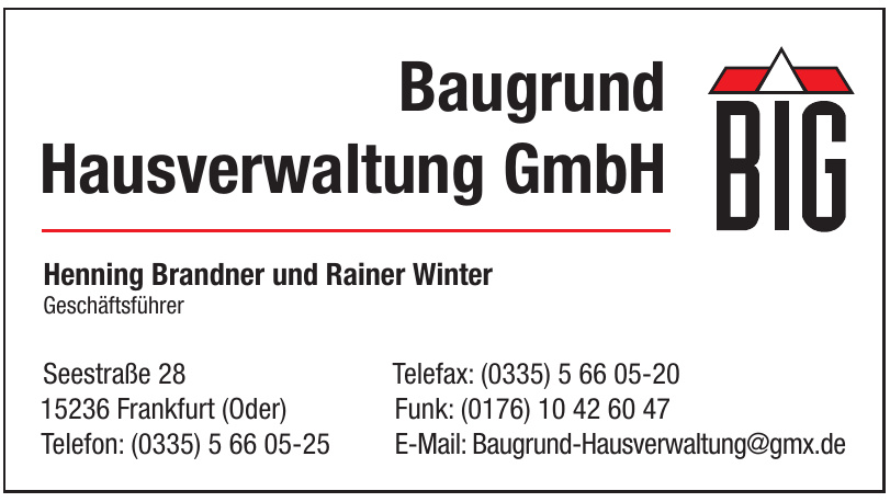 BIG Baugrund Hausverwaltung GmbH