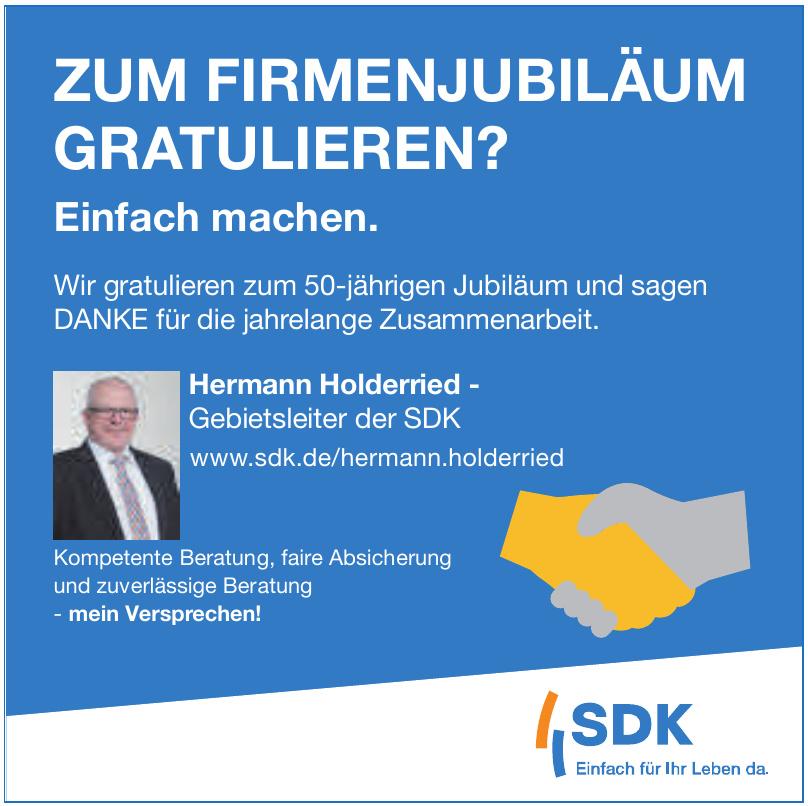 Hermann Holderried - Gebietsleiter der SDK