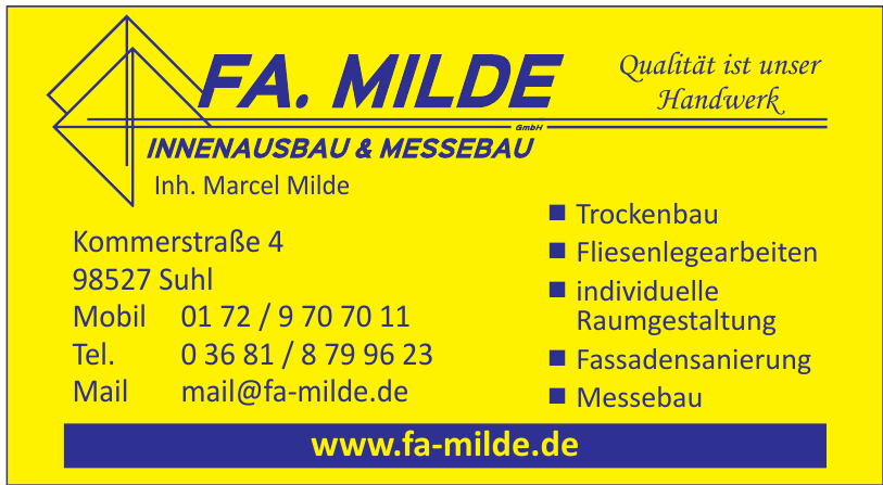 Fa. Milde Innenausbaau & Messbau