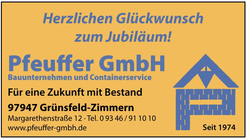 Pfeuffer GmbH Bauunternehmen und Containerservice