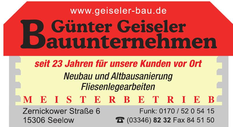 Günter Geiseler Bauunternehmen