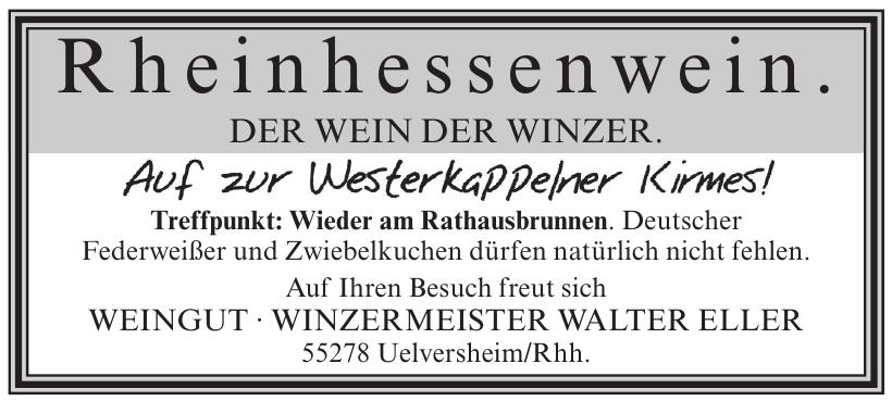 Weingut - Winzermeister Walter Eller