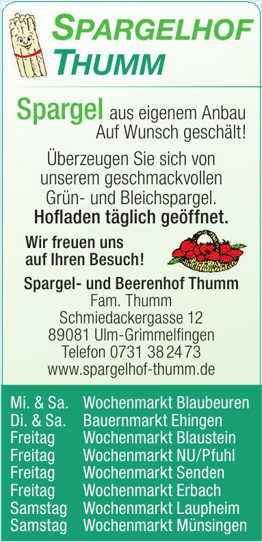 Spargel- und Beerenhof Thumm