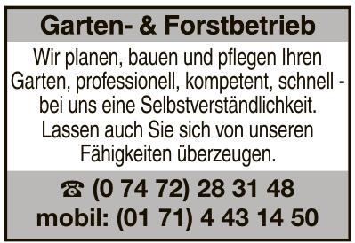Garten- & Forstbetrieb