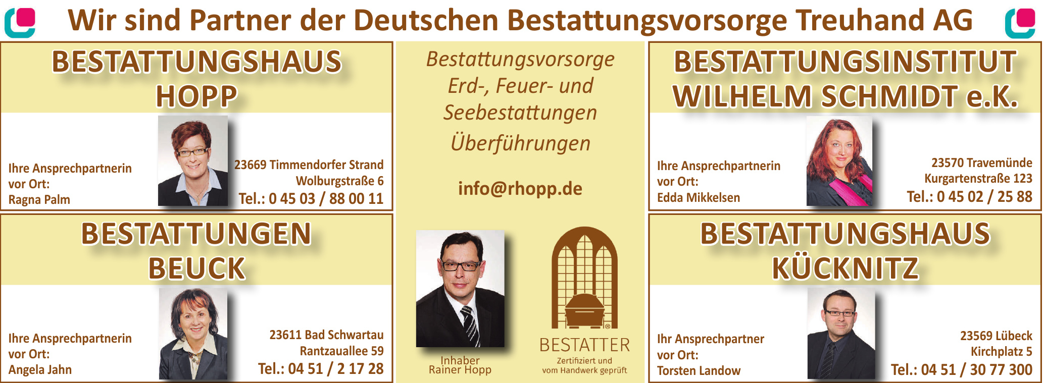 Deutschen Bestattungsvorsorge Treuhand AG - Bestattungshaus Hopp