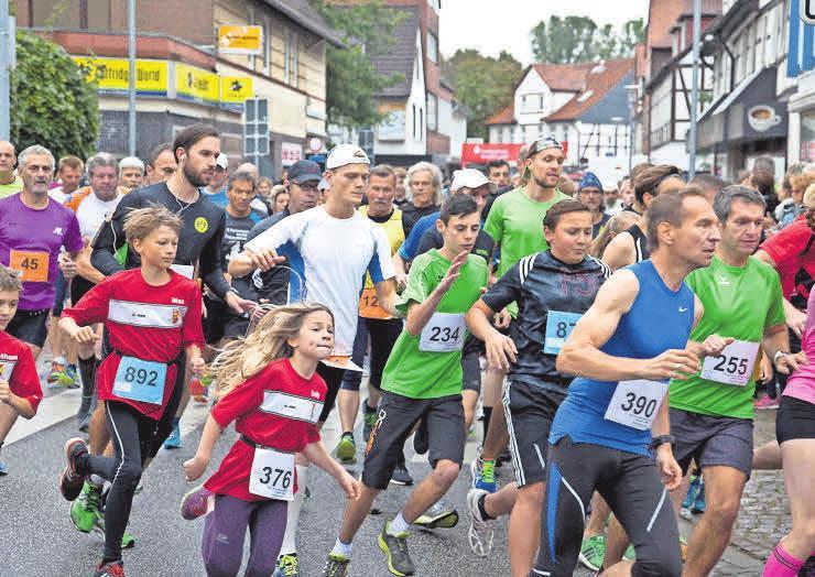 Der Burgdorfer Spargel-Lauf ist vom Oktobermarkt kaum noch wegzudenken. Foto: Dieter Heun
