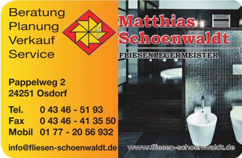 Matthias Schoenwaldt Fliesenlegermeister