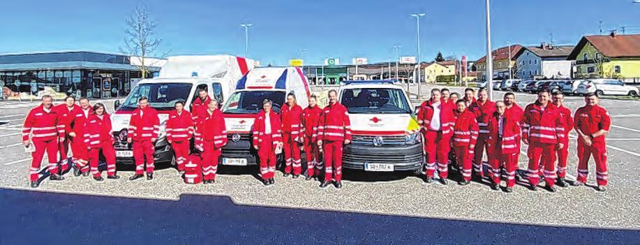 Die Schnelleinsatzgruppe (SEG) des Bezirks Schärding besteht zum Großteil aus Mitarbeiterinnen und Mitarbeitern vom Roten Kreuz Kopfing und ist zum Beispiel bei Großschadensereignissen im Einsatz.