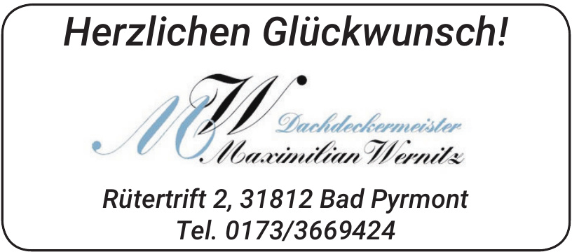 Dachdeckermeister Maximilian Wernitz