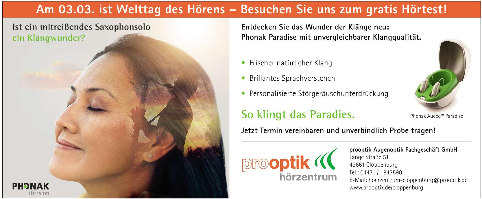 prooptik Augenoptik Fachgeschäft GmbH