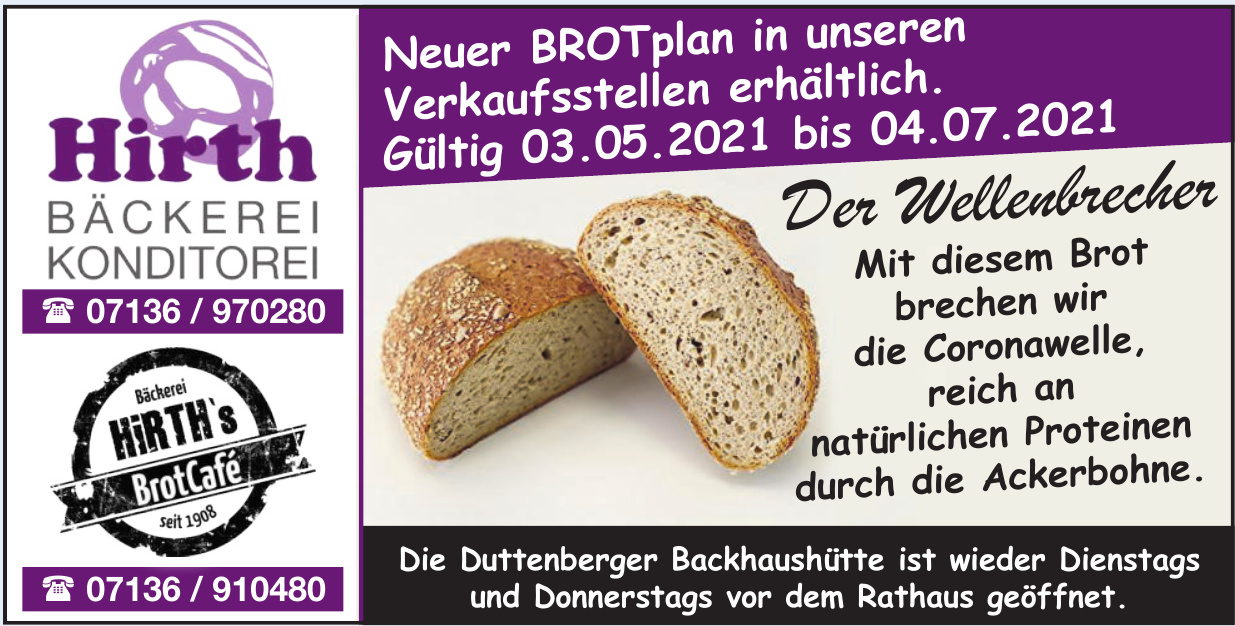 Hirth Bäckerei Konditorei