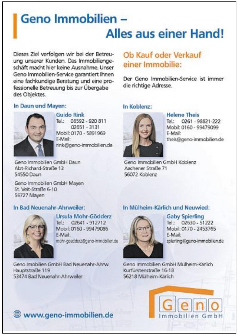 Geno Immobilien GmbH Daun