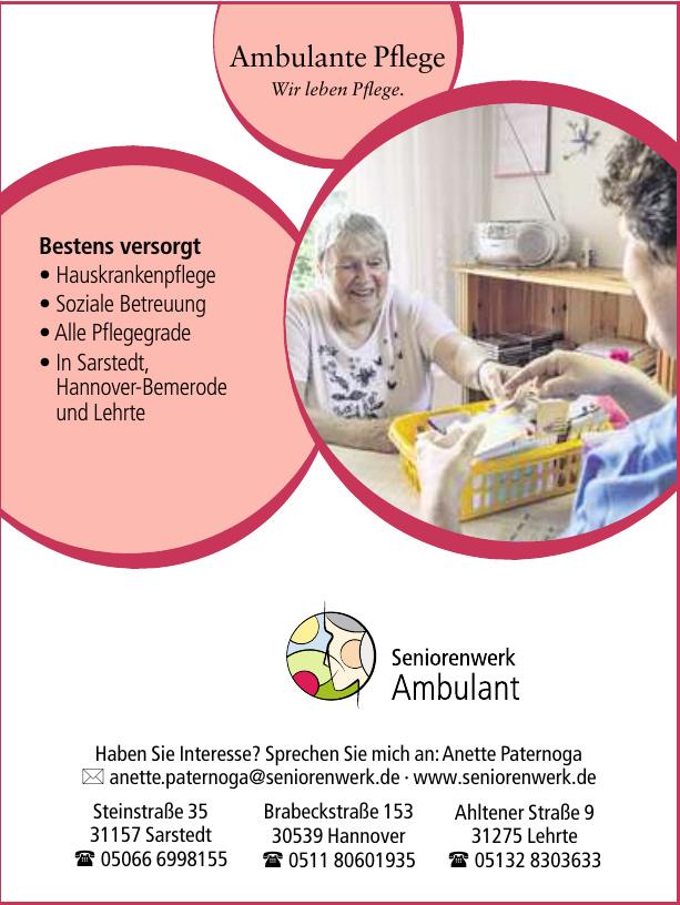 Seniorenwerk Ambulant