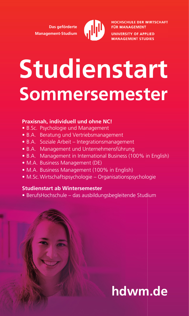 Hoschule der Wirtschaft für Management - University of Applied Management Studies