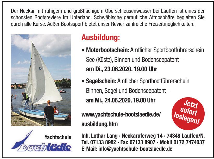 Yachtschule Bootslädle