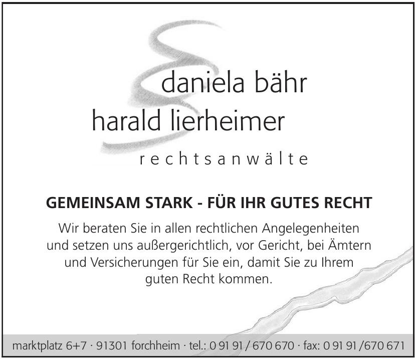 daniela bähr + harald lierheimer rechtsanwälte