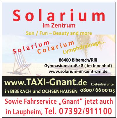 Solarium im Zentrum
