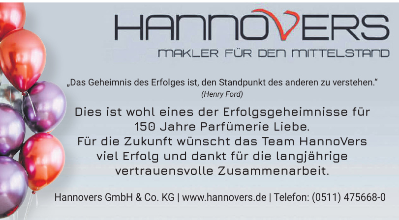 Hannovers GmbH & Co. KG