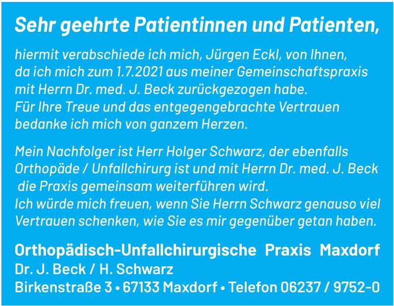 Orthopädisch-Unfallchirurgische Praxis Maxdorf