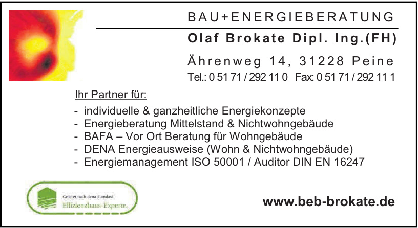 Bau+Energieberatung Brokate
